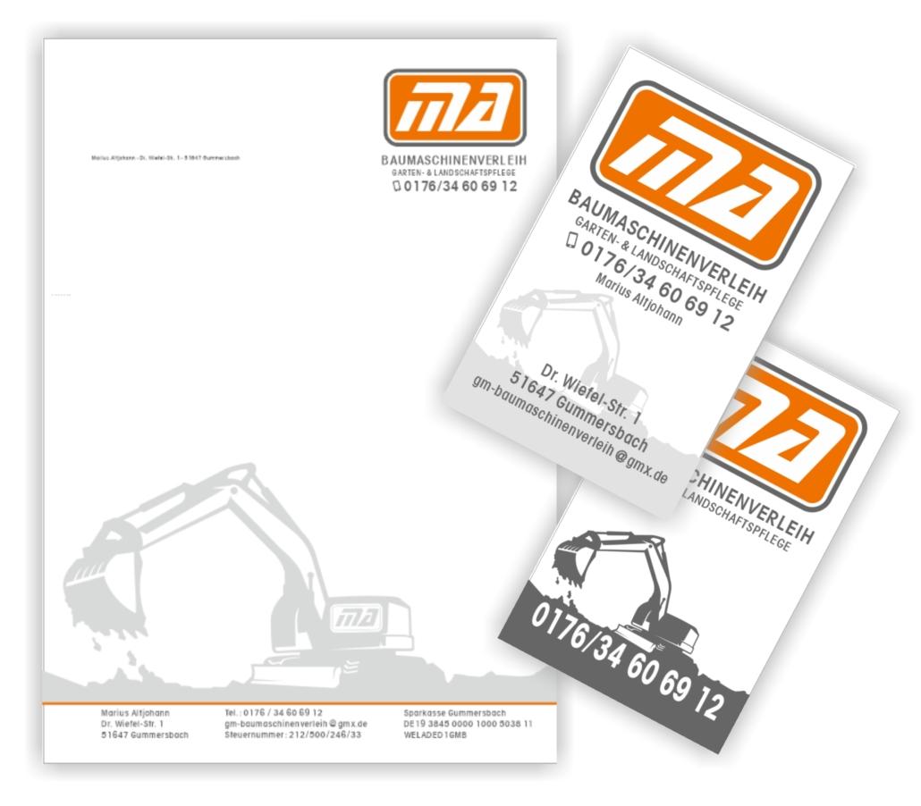 Visitenkarten Geschäftspapier Für Marius Altjohann